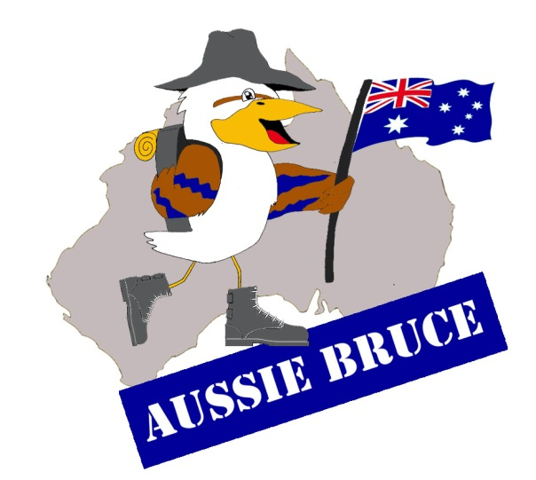 Mascot for Aussie Bruce is the kookaburra