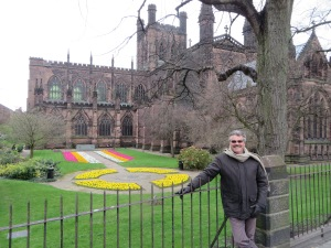 Chester Cathedral inside roman walls