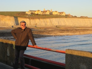 Mark and the white cliffs of Brighton!!