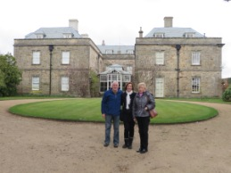 Lord Melbourne's historic house MELBOURNE HALL with Connie and Norman