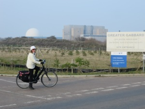 "The white ""golf ball"" is the ""local"" Nuclear Power Station!!"