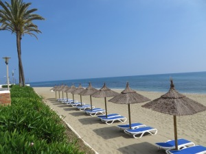 Our beach at Leila Playa Club