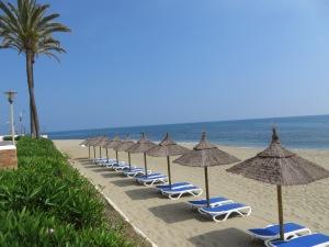 Our beach at Leila Playa Club