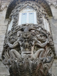 The palace gateway – half man, half fish figure!